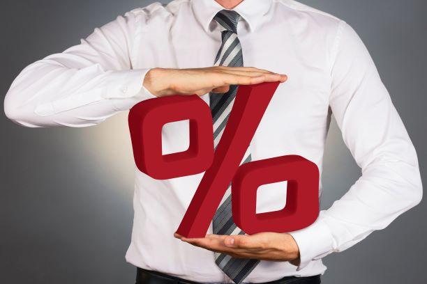 Vertaislainan korot prosenttina